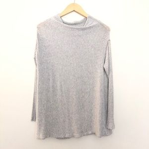 Free People Ribbed Mock Neck Top Small